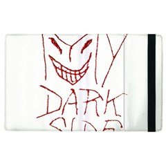 My Dark Side Typographic Design Apple Ipad 2 Flip Case by dflcprints
