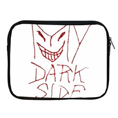 My Dark Side Typographic Design Apple Ipad Zippered Sleeve by dflcprints