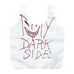 My Dark Side Typographic Design Reusable Bag (l) by dflcprints