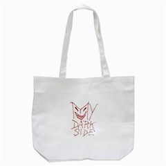 My Dark Side Typographic Design Tote Bag (white) by dflcprints