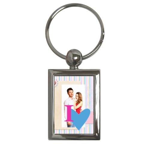 Love By Ki Ki   Key Chain (rectangle)   7zak58vo5jiz   Www Artscow Com Front
