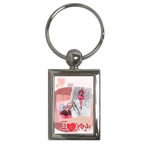 Love By Ki Ki   Key Chain (rectangle)   P0t0oxchmjxe   Www Artscow Com Front