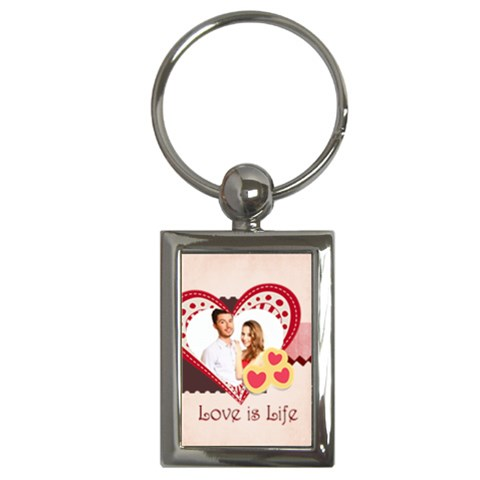 Love By Ki Ki   Key Chain (rectangle)   F9gjv0scea1u   Www Artscow Com Front