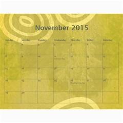 Calendar   2015 By Carmensita   Wall Calendar 11  X 8 5  (12 Months)   Nezltt4phujl   Www Artscow Com Nov 2015