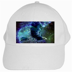 Catch A Falling Star White Baseball Cap by icarusismartdesigns