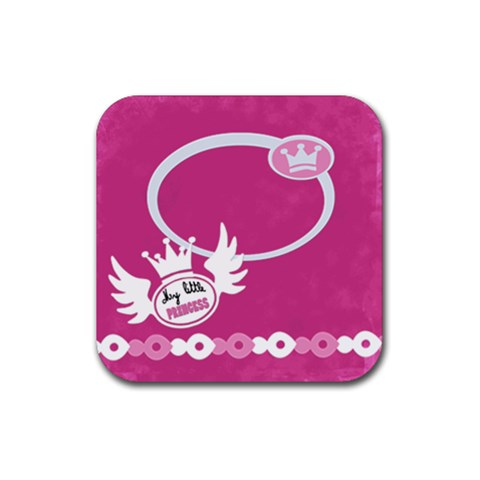 My Little Princess By Carmensita   Rubber Coaster (square)   Yyuz5crbff9y   Www Artscow Com Front