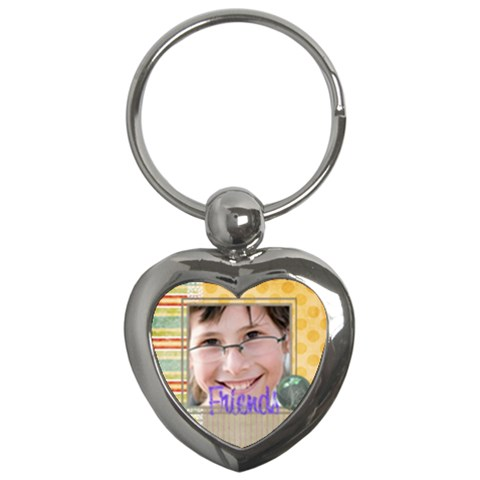 Kids By Kids   Key Chain (heart)   Opt9pl4uyha8   Www Artscow Com Front
