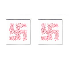 Swastika With Birds Of Peace Symbol Cufflinks (square)