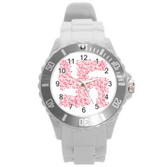 Swastika With Birds Of Peace Symbol Plastic Sport Watch (large) by dflcprints