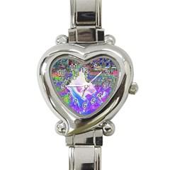 Splash1 Heart Italian Charm Watch  by icarusismartdesigns