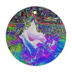 Splash1 Round Ornament (two Sides) by icarusismartdesigns