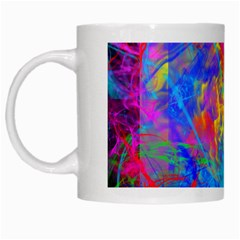 Colour Chaos  White Coffee Mug by icarusismartdesigns