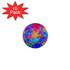 Colour Chaos  1  Mini Button (10 Pack) by icarusismartdesigns