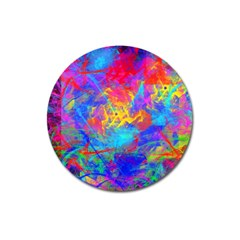 Colour Chaos  Magnet 3  (round) by icarusismartdesigns