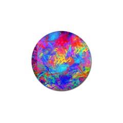 Colour Chaos  Golf Ball Marker by icarusismartdesigns