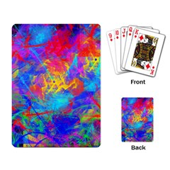 Colour Chaos  Playing Cards Single Design by icarusismartdesigns