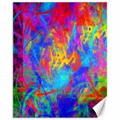 Colour Chaos  Canvas 11  X 14  (unframed) by icarusismartdesigns