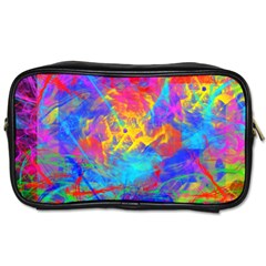 Colour Chaos  Travel Toiletry Bag (two Sides) by icarusismartdesigns