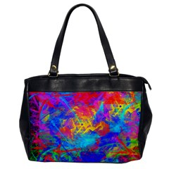 Colour Chaos  Oversize Office Handbag (one Side) by icarusismartdesigns