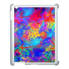 Colour Chaos  Apple Ipad 3/4 Case (white) by icarusismartdesigns