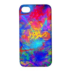 Colour Chaos  Apple Iphone 4/4s Hardshell Case With Stand by icarusismartdesigns