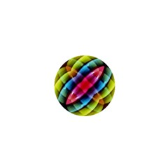 Multicolored Abstract Pattern Print 1  Mini Button by dflcprints