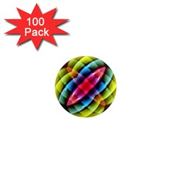 Multicolored Abstract Pattern Print 1  Mini Button Magnet (100 Pack) by dflcprints