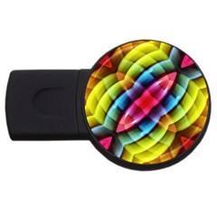 Multicolored Abstract Pattern Print 2gb Usb Flash Drive (round) by dflcprints