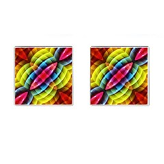 Multicolored Abstract Pattern Print Cufflinks (square) by dflcprints