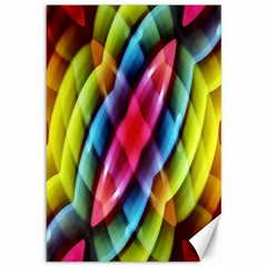 Multicolored Abstract Pattern Print Canvas 12  X 18  (unframed) by dflcprints