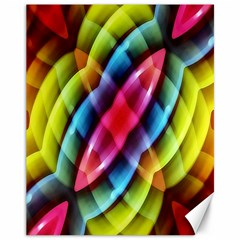 Multicolored Abstract Pattern Print Canvas 11  x 14  (Unframed)