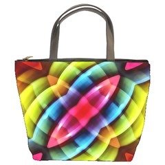 Multicolored Abstract Pattern Print Bucket Handbag by dflcprints
