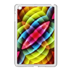 Multicolored Abstract Pattern Print Apple Ipad Mini Case (white) by dflcprints
