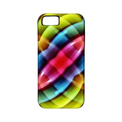 Multicolored Abstract Pattern Print Apple Iphone 5 Classic Hardshell Case (pc+silicone) by dflcprints