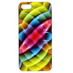 Multicolored Abstract Pattern Print Apple Iphone 5 Hardshell Case With Stand by dflcprints