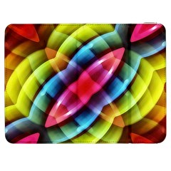 Multicolored Abstract Pattern Print Samsung Galaxy Tab 7  P1000 Flip Case by dflcprints