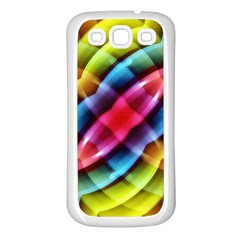 Multicolored Abstract Pattern Print Samsung Galaxy S3 Back Case (white) by dflcprints