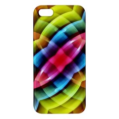Multicolored Abstract Pattern Print Iphone 5s Premium Hardshell Case by dflcprints