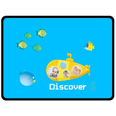 Summer Kids By Kids   Fleece Blanket (large)   9294f9e97skz   Www Artscow Com 80 x60 Blanket Front