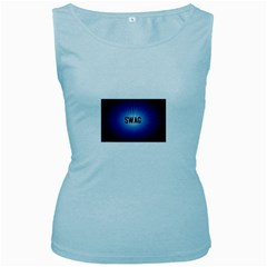 Swag Women s Tank Top (Baby Blue) by centralcharms1