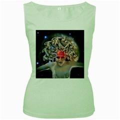 Medusa Women s Tank Top (green) by icarusismartdesigns