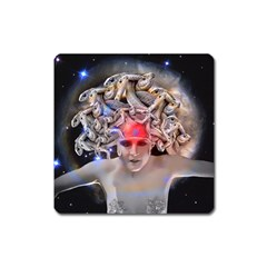 Medusa Magnet (square) by icarusismartdesigns