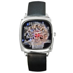 Medusa Square Leather Watch by icarusismartdesigns
