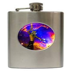 Star Fighter Hip Flask