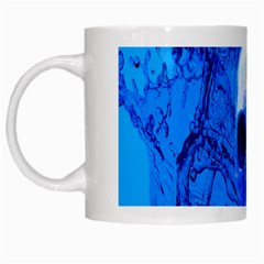 Alien Blue White Coffee Mug by icarusismartdesigns