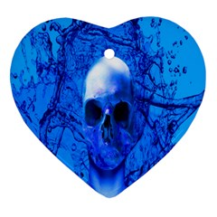 Alien Blue Heart Ornament (two Sides) by icarusismartdesigns