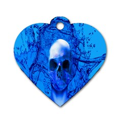 Alien Blue Dog Tag Heart (two Sided) by icarusismartdesigns