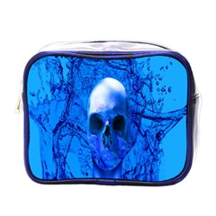 Alien Blue Mini Travel Toiletry Bag (one Side) by icarusismartdesigns