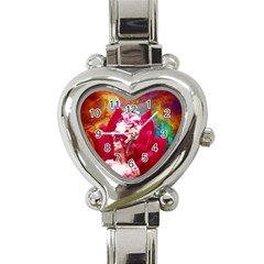 Star Flower Heart Italian Charm Watch  by icarusismartdesigns