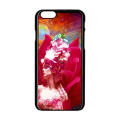 Star Flower Apple Iphone 6 Black Enamel Case by icarusismartdesigns